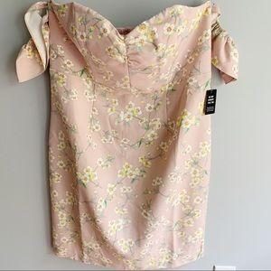 Express Floral Off Shoulder Dress